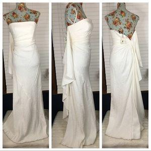BCBGMaxazria Wedding Gown Gardenia size 0